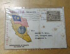 Sultan Perak Portrait 1957 Merdeka Malaya Tunku Abdul Rahman stamp 1v FDC