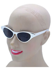 New Ladies Mens 50s Rock n Roll Sunglasses Silver Fancy Specs Dame Edna Glasses
