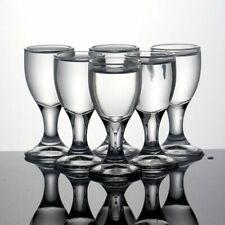 6Pcs Whiskey Shot Glasses Lead Free Swallow Glass Liquor Spirits Vodka Bar Cups