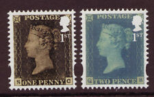 GREAT BRITAIN 2015 PENNY BLACK TWO STAMPS EX MINISHEET  UNMOUNTED MINT