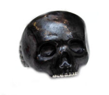 DAVID YURMAN NEW Mens Carved Skull Ring with Forged Carbon Sterling Silver 9.75