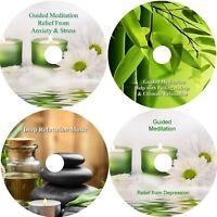 Deep Relaxation 4 CD Set Anxiety Stress Relief Deep Sleep Aid Healing Calming