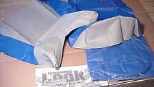 2001 KAWASAKI ZX-6R 2-Pc SEAT COVER SKINS & TANK BRA  Blue/Silver SECOND LOOK