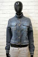 Giacca Jeans Donna Roccobarocco Taglia M Giubbino Giubbotto Elastico Jacket Blu