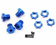 Aluminium Splined 17mm HEX HUBS 5353X nuts For Traxxas E-Revo Summit E-Maxx Blue