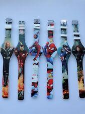 1x Children Kid Boy Ironman Spiderman Super Hero Silicone Rubber Wrist Watch