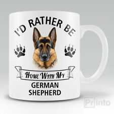 I'D RATHER BE HOME WITH MY GERMAN SHEPHERD Funny mug, novelty cup | dog lover