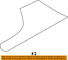 FORD OEM 11-16 Fiesta Exterior-Stone Deflector Guard Left AE8Z58292A23A