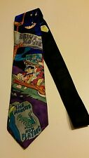 Flinstones Rm Style Drive In Movie Neck Tie 100% Silk Made in Usa