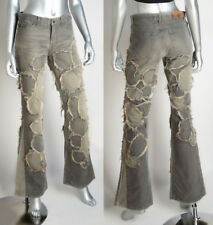 JUST CAVALLI BY ROBERTO CAVALLI JEANS FRAYED EDGY DESIGN sz 26 / 40