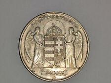 5 Pengö 1939 Silber Ungarn Wappen Engel Silver