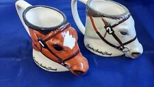 Santa Anita Park Horse Head  Mug Coffee Cup  Lot of 2 NIB by Gary Mandel