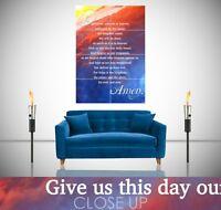 Lords Prayer Christian Inspirational Spiritual Giant Poster Wall Art Print