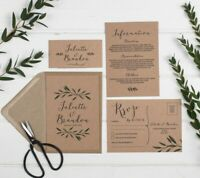 Woodland Kraft Wedding Invitation Set