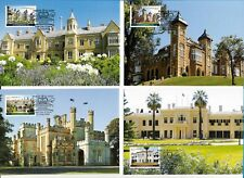 2013 HISTORICAL ARCHITECTURE - 4 MAXI CARDS  - PRE PAID INTERN. & AUST. STAMPS