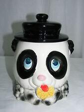 Vintage Ceramic Cookie Jar Panda Bear Manufactured 4 National Silver Co Japan