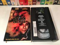 * Sworn Enemies aka Coyote Run VHS 1996 Crime Action Michael Pare Peter Greene