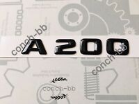Mercedes A200 Badge Emblem Decals New Style Gloss Black