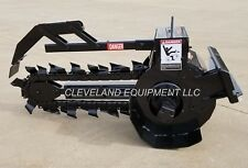"NEW PREMIER T125 TRENCHER ATTACHMENT 36""X6"" - BOBCAT MT52 MINI SKID STEER LOADER"