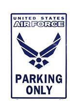 """metallo segno """" AIRFORCE Parking Only """" rockabillyrockabilly Nose art. US V8"""
