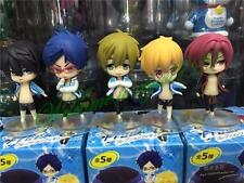 Cute ! 5pcs Japaness Anime Free! Iwatobi Swim Club 5-8cm PVC Figure Toy Set New