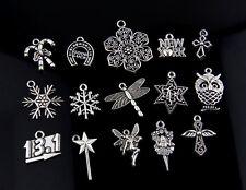 30pcs Tibetan Silver Mix Combination Pendants Charms for Jewelry Making 24B