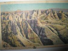 big foot pass badlands south dakota postcard