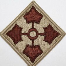 US Army 4th Infantry Division Patch Desert tan and brown sew on New each P175