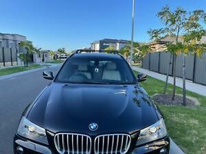 BMW X3 F25 2010-2017 ANTI THEFT ALUMINIUM CROSS BARS RACK 75 KG LOADING BLACK