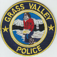Grass Valley CA California Police mini hat patch GOLD PROSPECTOR