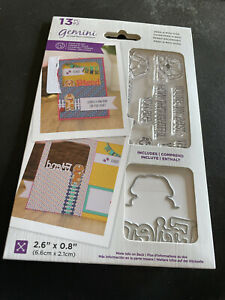 GEMINI PEEK-A-BOO DOG STAMP AND DIE COLLECTION - NEW LOWER PRICE!!!!!!