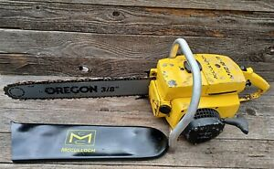 "Vintage McCulloch Mac 10-10 Chainsaw - Complete Chainsaw w/ 16"" Bar"