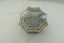 "Egyptian Inlaid Mother of Pearl Umbrella Shaped Jewelry Box 5.25"" # 797"