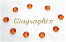 3x 288 Pcs 6 gross DMC Iron On Hotfix Crystal Rhinestones Orange SS30, SS30O