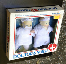 Vintage Doctor and RN Nurse Soft Body Dolls Red Cross