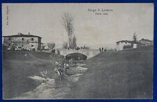 BORGO SAN LORENZO Ponte Rosso  animata viaggiata 1910 f/p #20847