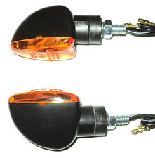 4X AMBER indicator turn signal scooter bike Pocket 6V 6 VOLT Moped Motorbike