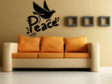 Wall Stickers Vinyl Decal Dove Bird Peace Love Nature ig142