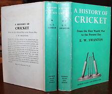 1962 History of Cricket Signed Altham Dedicated to Desmond Eagar 2 Vols 1st Ed