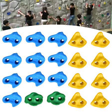 20X Rock Climbing Holds Wall Stones+40X Screws In/Outdoor Playground for Kid