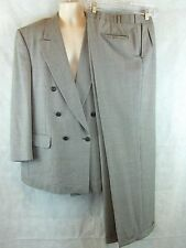 Burberry Prorsum Double Breasted Houndstooth Suit  40R Pants 40 X 31 100% Wool