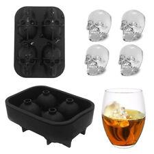 3D Silicone crâne forme cubes glaçons moules cocktails whisky Party