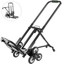 Stair Climbing Cart Portable Folding Trolley 330lbs, Hand Truck w/ 5Inch Wheels