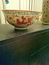 Very Fine enameled chinese antique Porcelain Bowl ! Marked