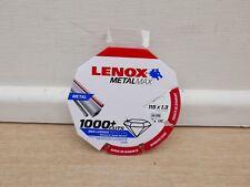 LENOX METALMAX 115MM X 22.2MM ANGLE GRINDER DIAMOND METAL CUTTING DISC 2030865