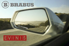 BRABUS SILVER SMALL SYMBOL MIRROR DECALS STICKERS GRAPHICS x3