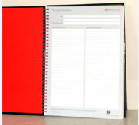 NEW-Oxford Black N' Red A4 Oxford Black n' Red A4 Card Cover , Ruled 140 Pages