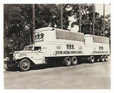 ca.1937 AUTOCAR DC100 FRUEHAUF 6-Wheeler & 6-Wheel Trailer 8x10 B&W GLOSSY PHOTO