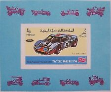 Yemen 1969 - Block Ford GT 40 imperforated MNH