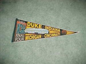 1992 NCAA Final Four Basketball Tournament Pennant Duke Blue Devils Champs